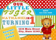 Daniel Tiger Invitation, Daniel Tiger Birthday Invitations, Daniel Party Invite Printables on Etsy, $9.99