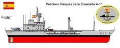 Perfiles navales.Petrolero Marques de la Ensenada A-11 1991