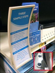 Petsmart Concave Shelf Edge Sign Detail