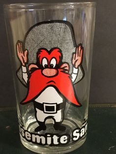 Vintage Yosemite Sam Jelly Glass Swanky Swig Elmer Fudd Cartoon  Looney Tunes   | eBay