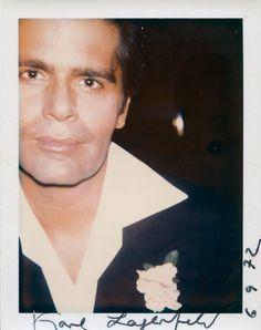 Junger Modefürst:  Ein Warhol-Polaroid des jungen Karl Lagerfeld aus dem Jahr...