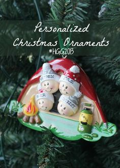 Personalized Christmas ornaments – an annual tradition!
