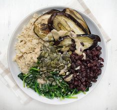 Roasted Aubergine and Tahini Bowl
