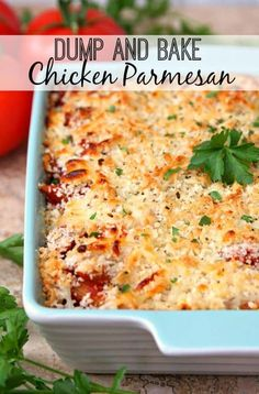 Dump and Bake Chicken Parmesan - Food Recipes - Home Living - Decor Interior - K. Dump and Bake Chicken Parmesan – Food Recipes – Home Living – Decor Interior – Kitchen Set Chicken Parmesan Recipes, Chicken Parmesan Casserole, Casseroles With Chicken, Chicken Bake Recipes Easy, Cooked Chicken Recipes Leftovers, Italian Chicken Casserole, Easy Casserole Recipes, Grilled Chicken Parmesan, Healthy Chicken Casserole