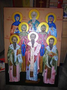 rodina sv. Bazila Veľkého Icons, Painting, Art, Art Background, Symbols, Painting Art, Kunst, Paintings, Performing Arts