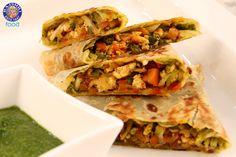 Paneer Bhurji Paratha (Scrambled Cottage Cheese Bread) #Indian #Vegetarian #Recipe by Ruchi Bharani
