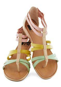 Sandalias color pastel