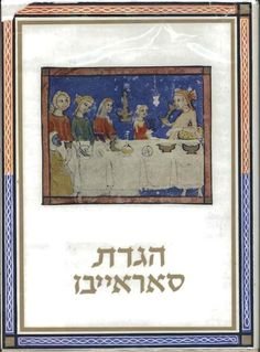 The Sarajevo Haggadah, held by the Bosnian National Museum in Sarajevo, is an illuminated manuscript from mid-14th century Barcelona.