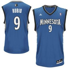 Ricky Rubio Minnesota Timberwolves adidas Youth Swingman Away Jersey -  Slate Blue -  52.49 07ab68cde