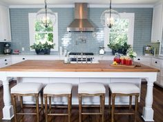 Kitchen Design - Don't be fooled by the power of stool seating and kitchen islands. They may take away what used to be of dining rooms!