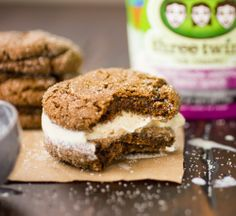total downfall - Soft and Chewy Gluten-Free Ginger Molasses Cookies / The Bojon Gourmet * sandwiched around Three Twins Ice Cream Gluten Free Sweets, Gluten Free Cookies, Gluten Free Baking, Gluten Free Recipes, Gluten Free Christmas Cookies, Holiday Cookies, Bojon Gourmet, Ginger Molasses Cookies, Chocolate Chip Oatmeal