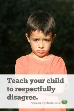 Kids need to learn how to disagree respectfully. Here are some tips to help you encourage independent thinking children without the disrespect!