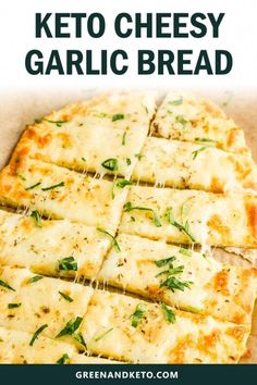 This amazingly east keto cheesy garlic bread will satisfy your cravings for Italian-style breadsticks. You'll love this buttery keto garlic bread made with low-carb mozzarella dough. It's so delicious, it's hard to believe that is gluten-free and keto-fri Garlic Cheese Bread, Cheesy Garlic Bread, Keto Cheese, Healthy Garlic Bread, Gluten Free Garlic Bread, Asiago Cheese, Cheese Food, Cheese Plates, Low Carb Recipes