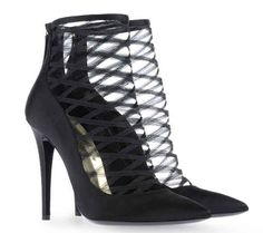 11.03.12 Dsquared2 Satin and Tulle Ankle Boots