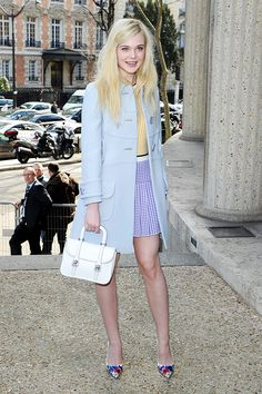 Elle Fanning - adore this fresh Spring look