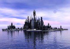 Stargate Atlantis Digital Art Glossy Print 'Atlantis Reflections'