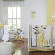 Happy Chic Baby by @JonathanAdler's Giraffe Nursery Collection - love the modern print, yet baby appropriate! @NoJoBedding