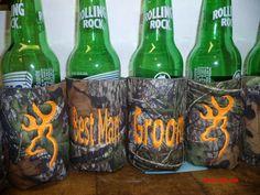 Browning Deer Head Hunters mossy oak koozie by KoozieFloozie  -wedding party gifts?,,,, maybe ;)
