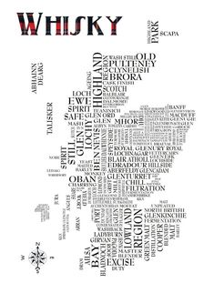 Whisky map of Scotland by amcmurchieprints on Etsy