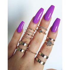 Les ongles en gel Couleur : violet http://amzn.to/2s3OkDd