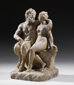 A Marble Group of the God Pan with a Nymph, Roman Imperial, Circa 1st Century A.D.