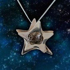 Shooting star meteorite jewelry