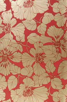 Indra | Wallpaper from the 70s Wallpaper Samples, Pattern Wallpaper, Surface Pattern Design, Pattern Art, Wallpaper From The 70s, Motif Floral, Floral Prints, Lino Prints, Block Prints