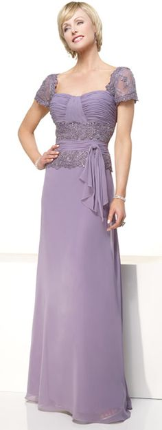 Tempting Purple Ruffles Column Short Sleeves Lace Chiffon Elegant Mother Of Brides Dress In Canada Mother of Bride Dress Prices