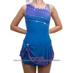 "Custom Figure Skating Dress - ""Anna"" / Baton Twirling Dress / Dance... ($155) ❤ liked on Polyvore featuring dresses, blue mesh dress, blue summer dress, mesh dress, blue ombre dress and ombre dress"