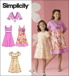 Simplicity girls dress pattern - made the one on the right.. Turned out adorable!