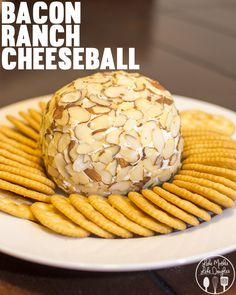 Bacon Ranch Cheeseball - This delicious cheeseball is really simple to make and has an amazing flavor combo for a perfect snack or appetizer for a holiday party! #WaysToWow #Ad