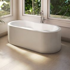 Simple oval bathtub by Alcove / Tournesol Collection Jetted Tub, Clawfoot Bathtub, American Standard Bathtubs, Air Jet Tubs, Aesthetic Fashion, Corner Bathtub, Alcove, Simple, Collection