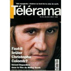 Télérama n°2230 du 07/10/1992 - Gérard Depardieu / Christophe Colomb -... [magazine mis en vente par Presse-Mémoire]