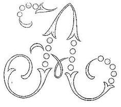 16 Embroidery Alphabet, Cross Stitch Alphabet, Hand Embroidery Patterns, Applique Patterns, Embroidery Applique, Embroidery Stitches, Embroidery Designs, Knitting Patterns, Alphabet Stencils