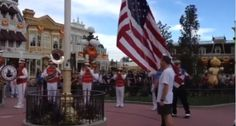 disneyland flag retreat ceremony veterans day