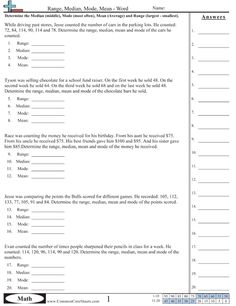 Worksheets Measure Of Central Tendency Worksheet activities math worksheets 4 kids and on pinterest mean median mode range worksheets