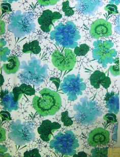 thedesigncenter: We found this lily pad print from the late 19th century that was reminiscent of one of our favorite David and Dash patterns from 1968.