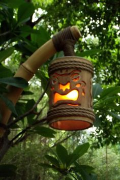 Tiki lanterns to light the stairs?