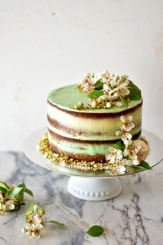 Pistachio Cake with Buttercream + Lima Vanilla