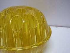 Golden Yellow Glass Flower Frog by SylviasFinds on Etsy, $9.00
