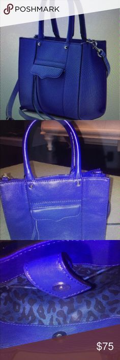 Rebecca minkoff mini mab tote Rebecca minkoff mini mab tote for sale. The bag is in good condition, never worn by me, but bought from another posher. It is cobolt blue with silver hardware. Rebecca Minkoff Bags