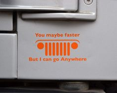 Jeep Go Anywhere Decal by GraphicForest on Etsy, $2.00