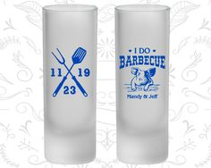 I Do BBQ, Frosted Shooter Glasses, I Do Barbecue Wedding, Wedding BBQ, BBQ Pig (46)