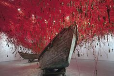 "2015 Biennale di Venezia Old boats in ""The Key in the Hand"" on view at the Japan Pavilion"