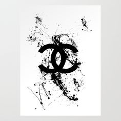 chnl Art Print by pyrhamid Chanel Wallpapers, Pretty Wallpapers, Fashion Wall Art, Fashion Painting, Cute Canvas Paintings, Canvas Wall Art, Chanel Background, Cadre Design, Mode Poster