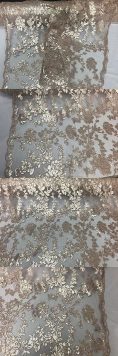 Fabric 28162: Nude Skin Roses Embroider With Sequins On A Vintage Mesh Lace Fabric-By The Yard -> BUY IT NOW ONLY: $32.99 on eBay!