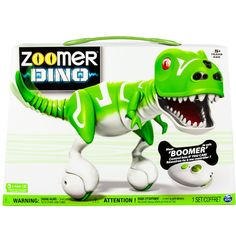 Control him if you can! Boomer is the incredible Zoomer Dino that only you can tame! With real dinosaur movements, sounds and incredible dino-sense abilities, Boomer can . Robot Dinosaur, Real Dinosaur, Dino Toys, Pet Toys, Robots For Kids, Animals For Kids, Toy Catalogs, Interactive Toys, Electronic Toys