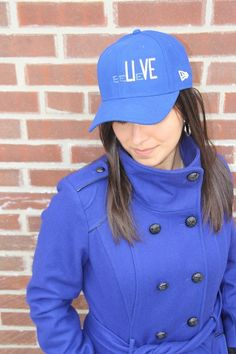 """Show your RPCI support in style with a blue version of the New Era """"beLIeVE"""" cap available at New Era and the Roswell Park Gift Shop"""