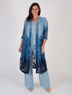 Modest Clothing for Women occasionwear fashion long sleeve dresses blouses skirts jackets beaded kaftan tunics collared tops linen trouser suits Mother Of The Bride Trouser Suits, Ladies Trouser Suits, Mother Of Bride Outfits, Mother Of Groom Dresses, Bride Dresses, Navy Wedding Guest Dresses, Wedding Outfits, Race Day Outfits, Woman Clothing