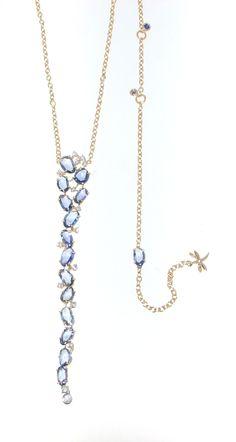 Casato Roma Gioielli: blue sapphires, rose gold and white diamonds